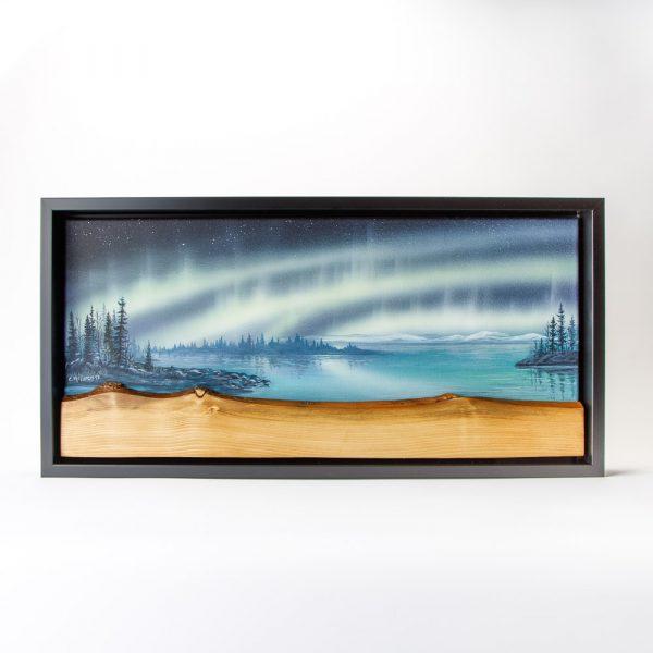 c mclaren live edge lake painting