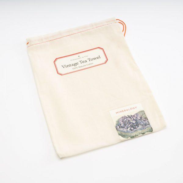 cavallini mineralolgy tea towel bag