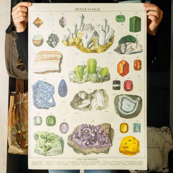 cavallini minerology poster