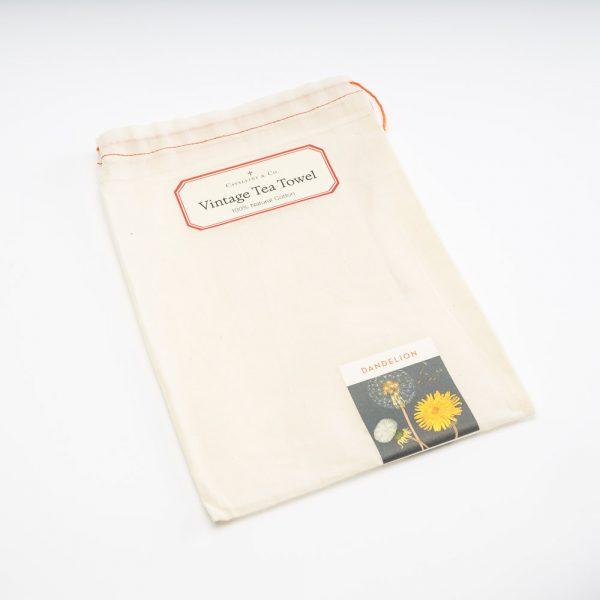 cavallni dandelion tea towel bag