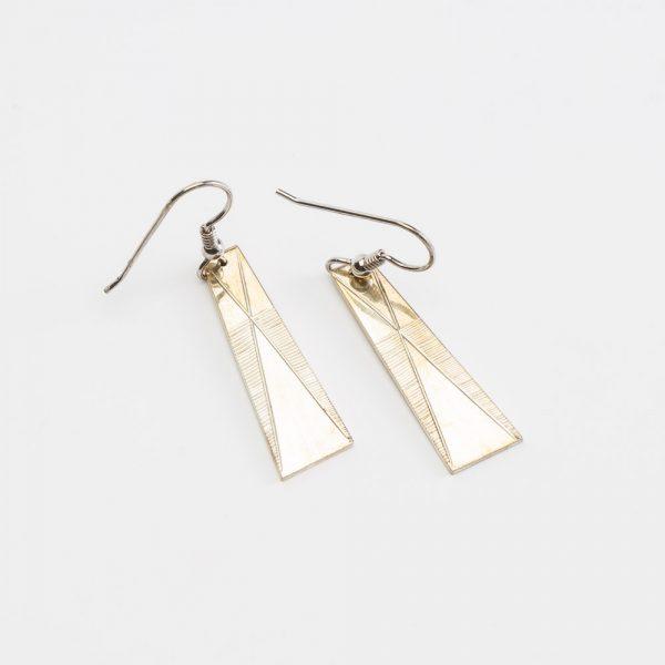 erik lee triangle complex earrings