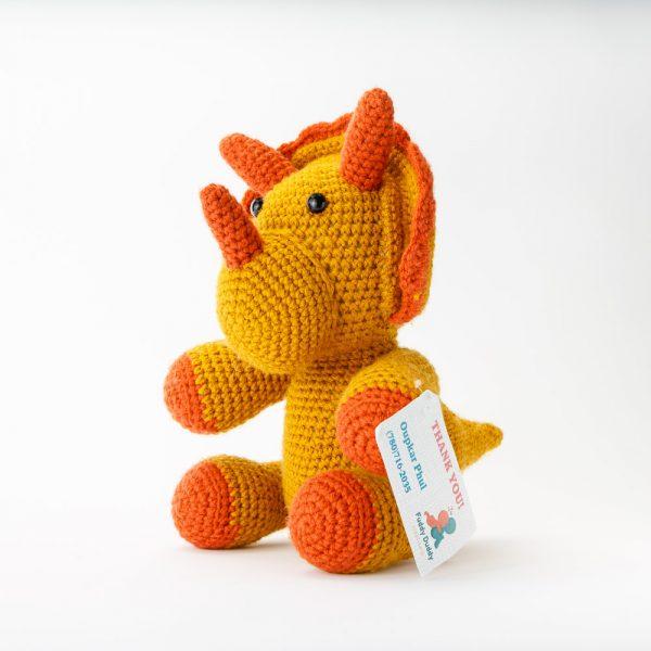 fuddy duddy crochet triceratops