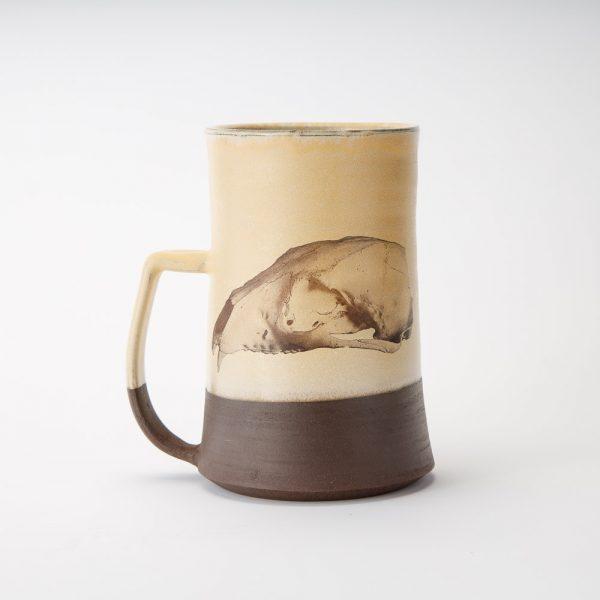 high country art black bear skull mug