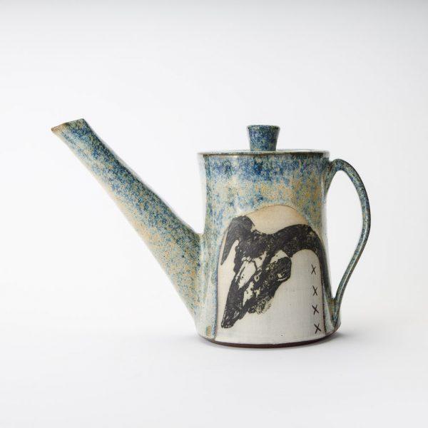 high country art goat skull teapot