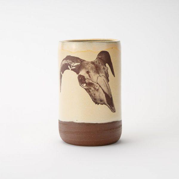 high country art goat skull tumbler