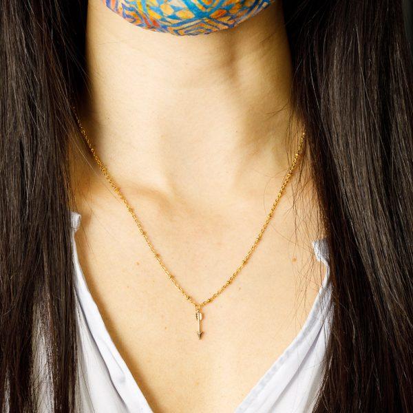 pika and bear arrow necklace