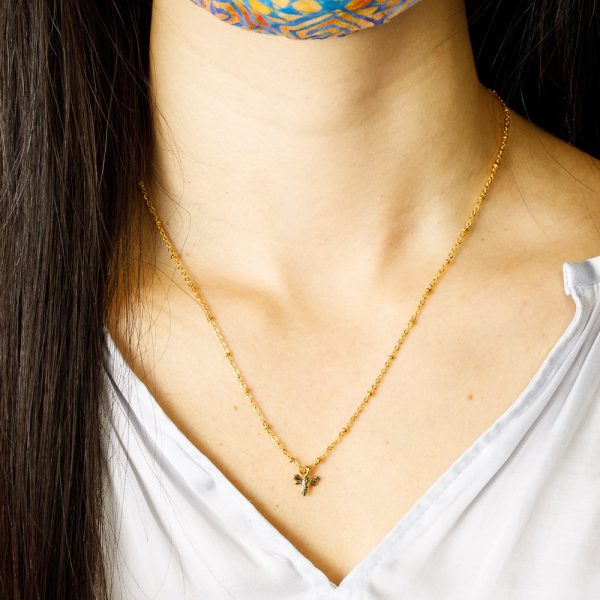 pika and bear honeybee gold necklace