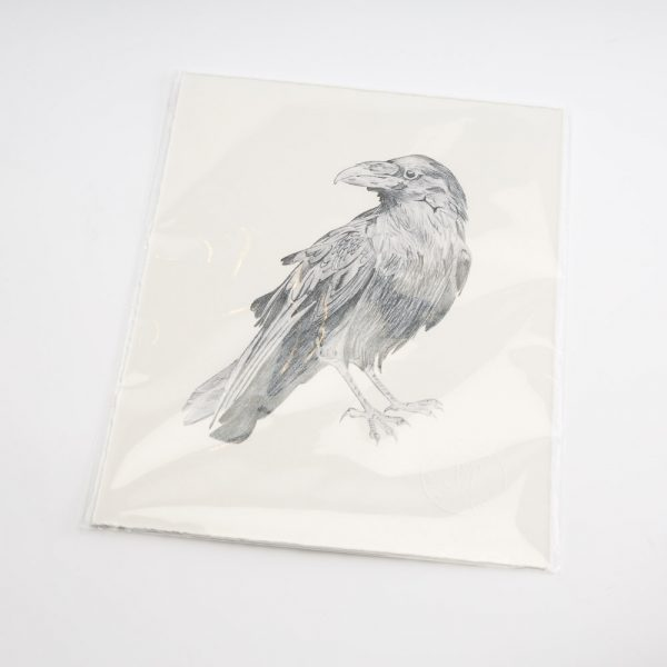 sarah hammond raven stood print