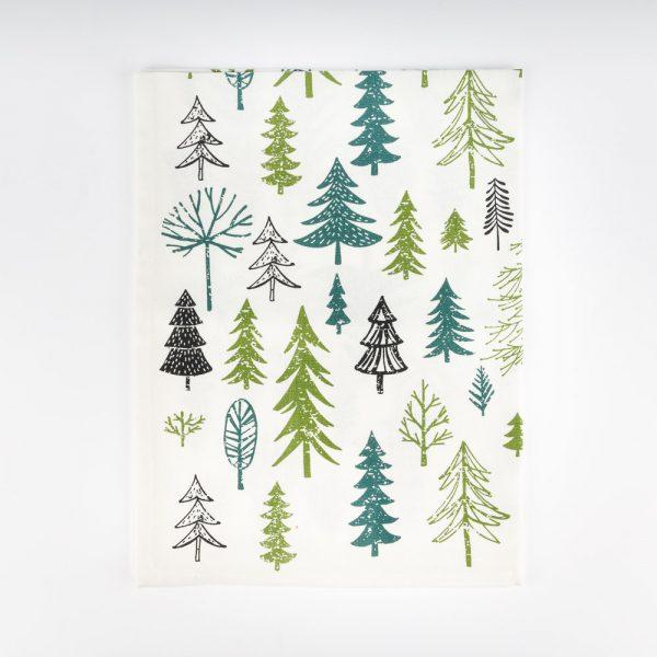 all over trees tea towel