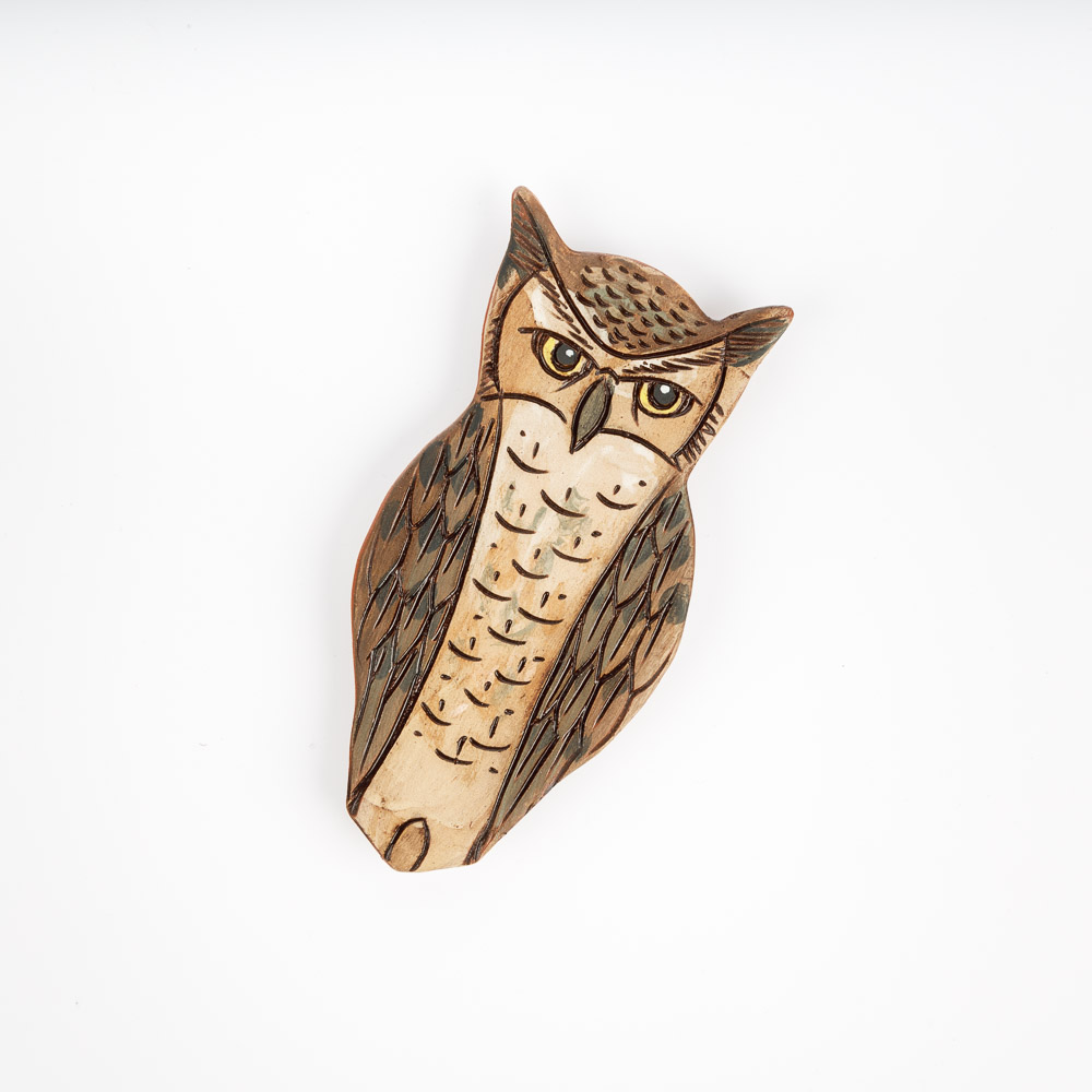 Owl Trio Set of 3 1-inch photo magnets