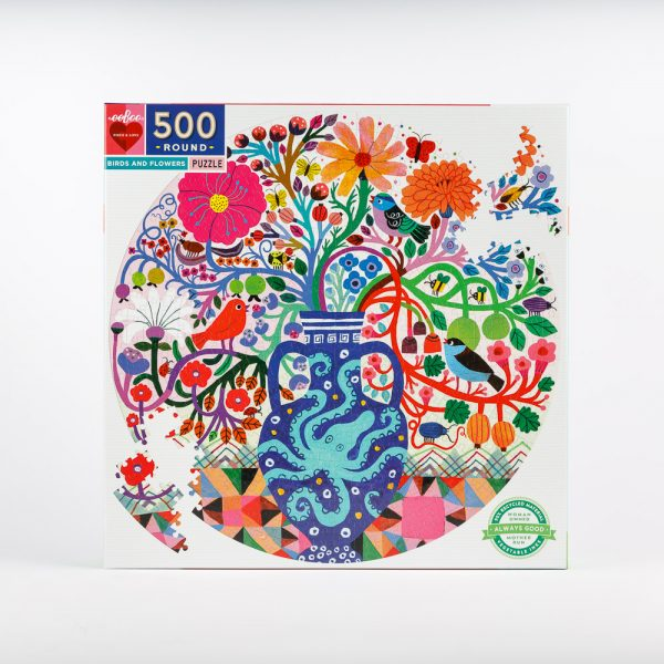 birds and flowers puzzle