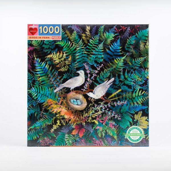 birds in fern puzzle