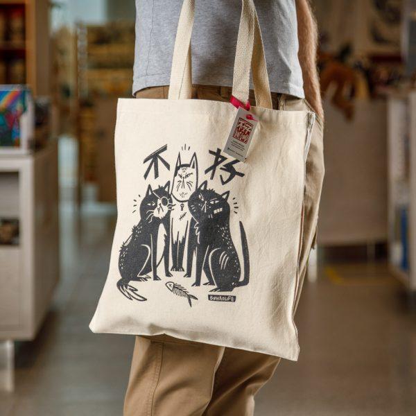 emily chu cats tote bag