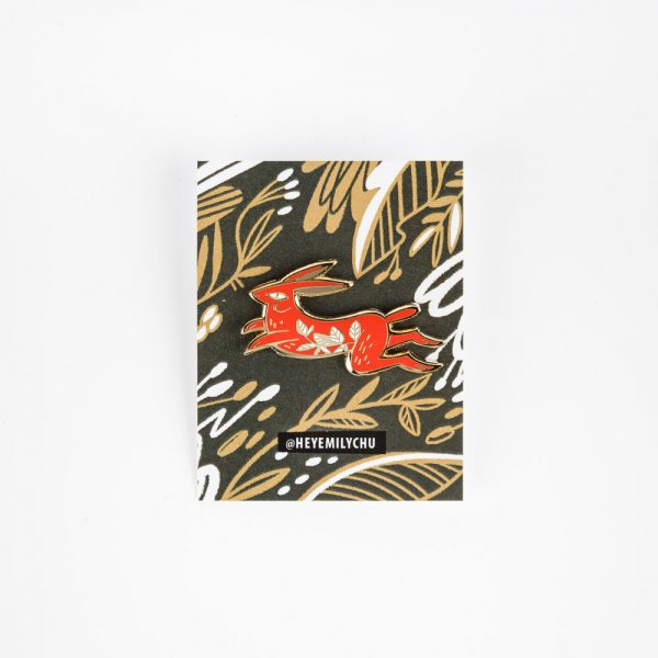 emily chu red rabbit pin