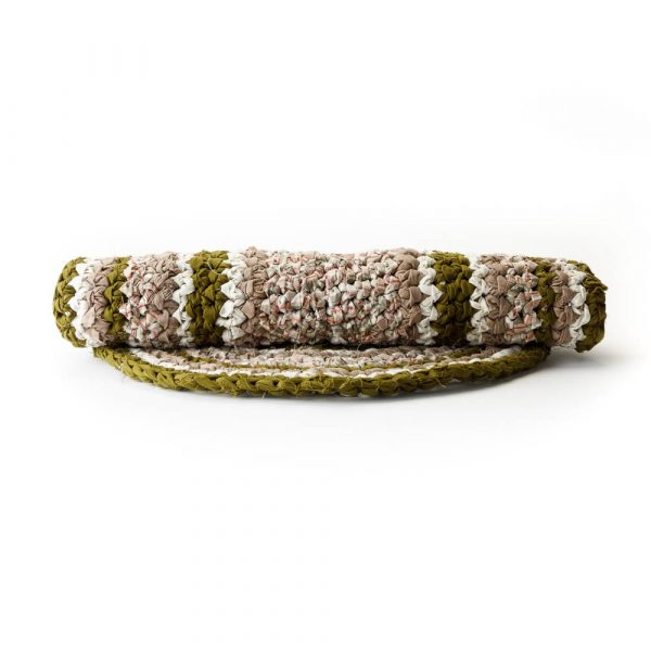 green oval rag rug