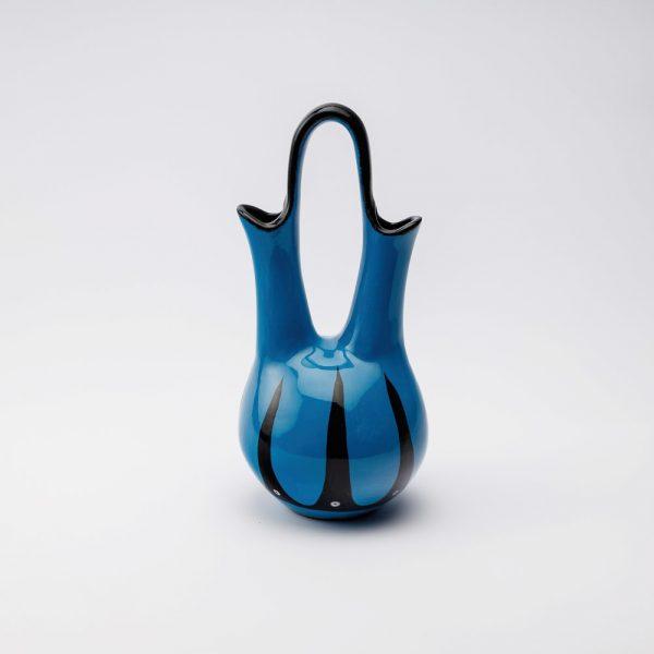 high hoop wedding vase blue