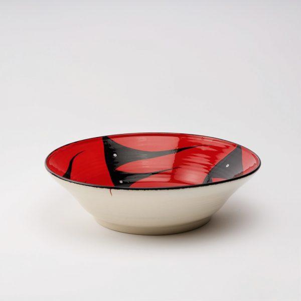 large bowl red