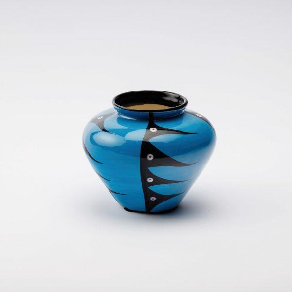 large harvest vase blue