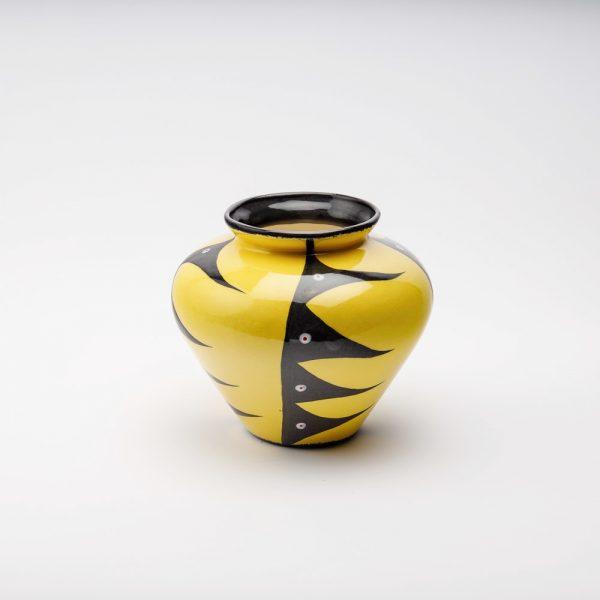 large harvest vase yellow