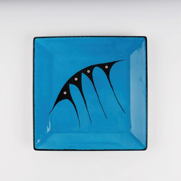 large square plate blue