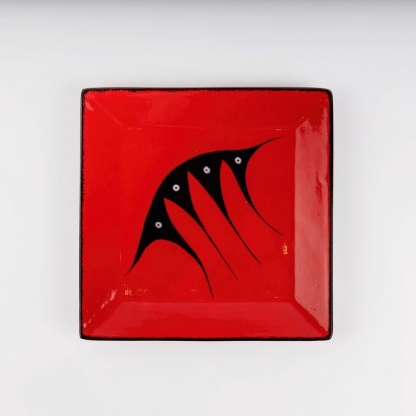 large square plate red