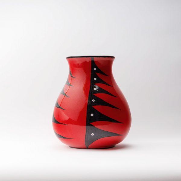 large water vase red