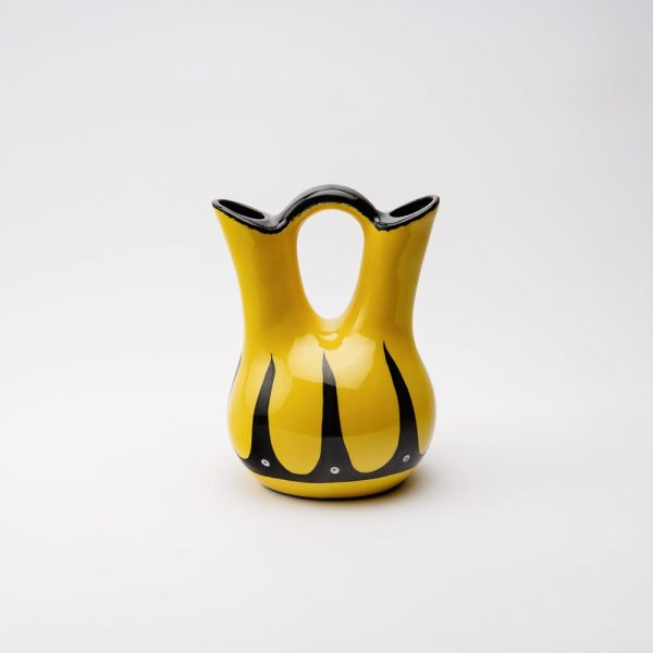 low hoop wedding vase yellow