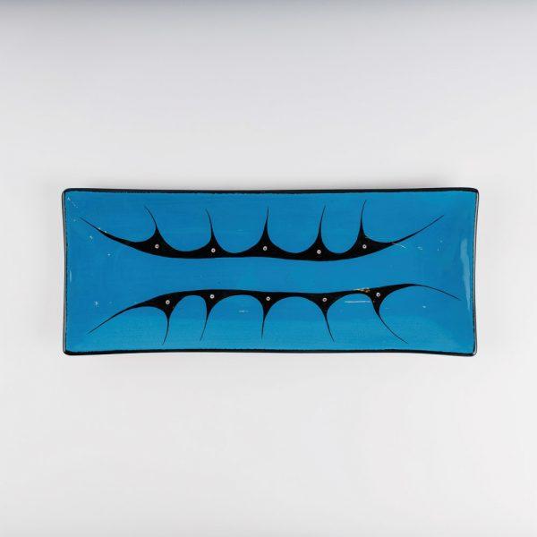 medium mountain platter blue