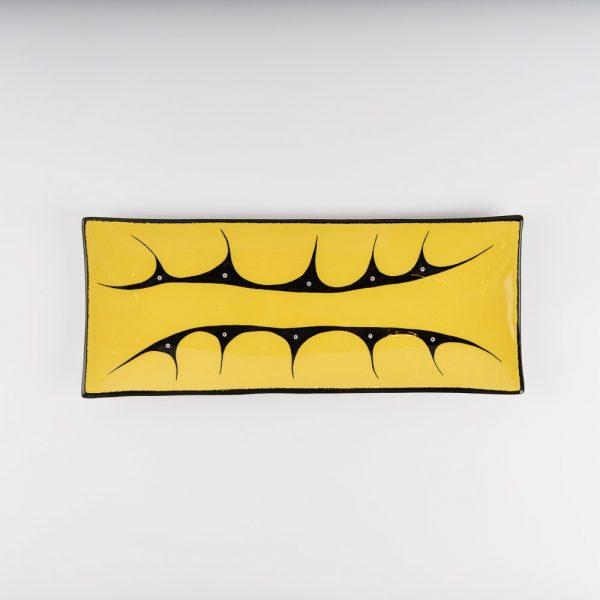 medium mountian platter yellow