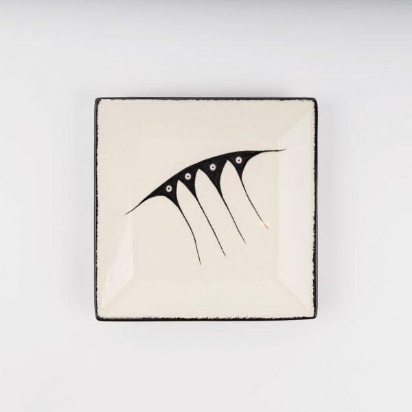 medium square plate white