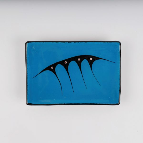 rectangle plate blue