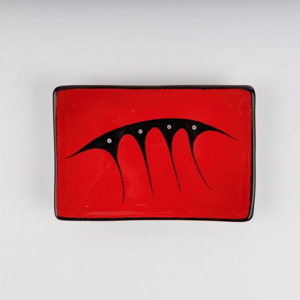 rectangle plate red
