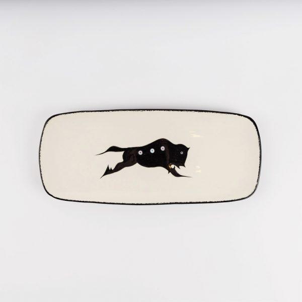 small buffalo platter white