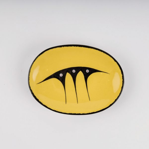small oval plate yellow