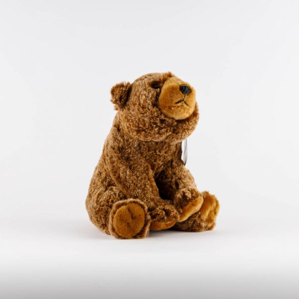 small sitting brown bear plush