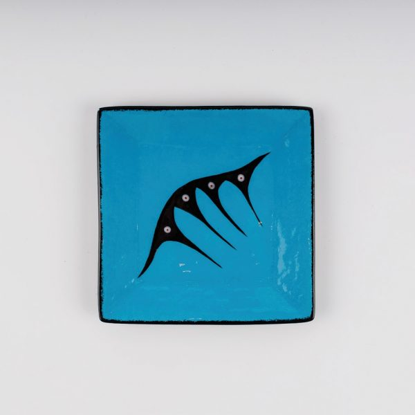 small square plate blue