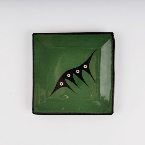 small square plate green