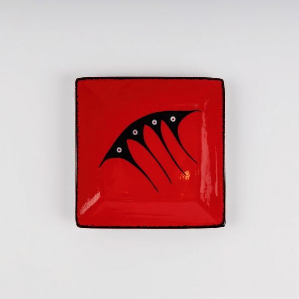 small square plate red