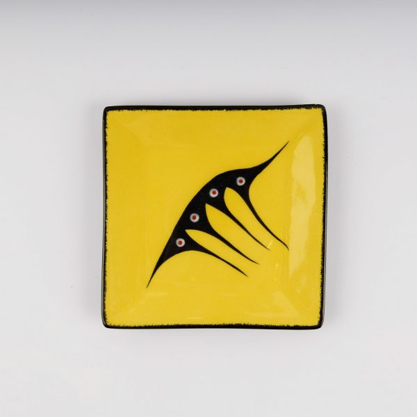 small square plate yellow