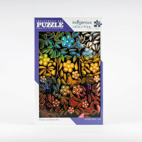 cap flowers and butterflies puzzle