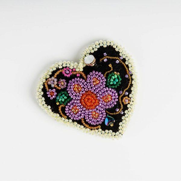 ck purple and cream heart