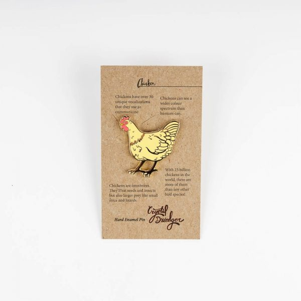 crystal chicken pin