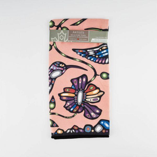 hummingbird microfibre tea towel