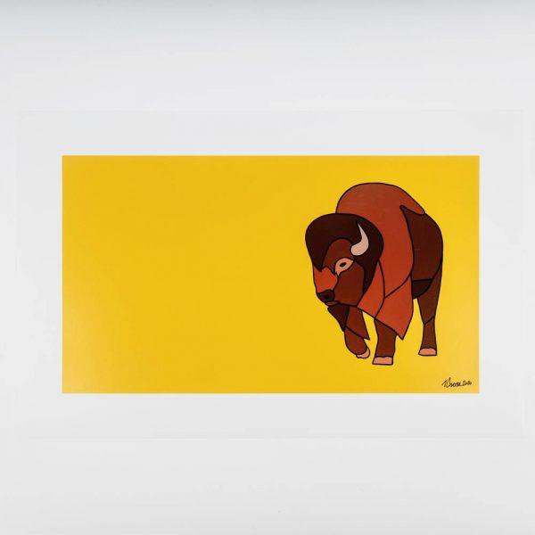jason carter bison on yellow