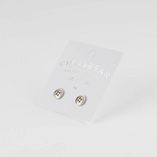 pb button earrings