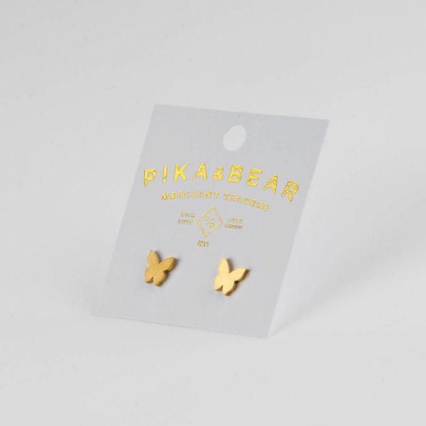 pb gold butterfly studs
