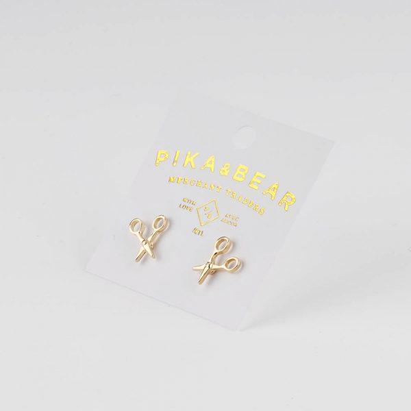 pb scissor earrings