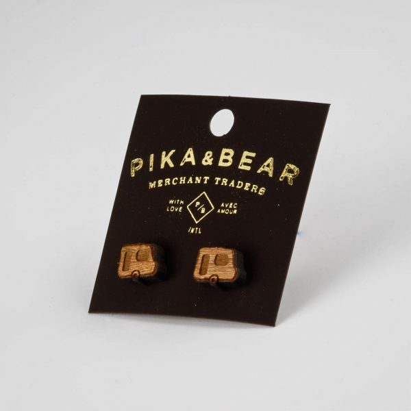 pb wooden camper earrings