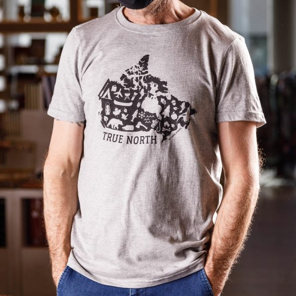 true north grey t shirt