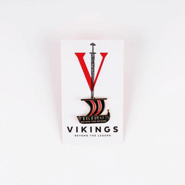 viking ship pin